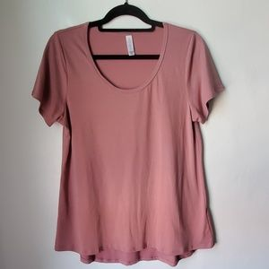 Lularoe Classic Tee Medium blush rose color